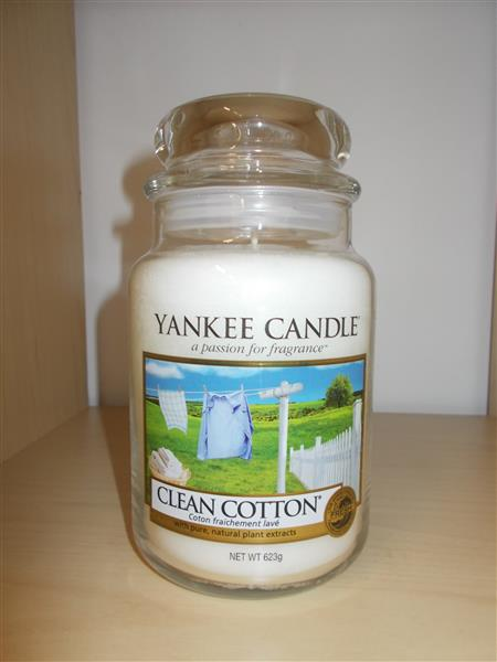 Yankee Candle Jar- Clean Cotton